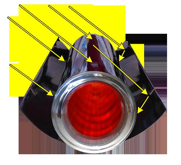 2 Prisma Pro cpc zonnecollector licht inval bovenkant
