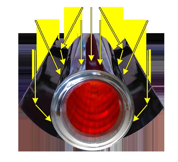 3 Prisma Pro cpc zonnecollector licht inval bovenkant