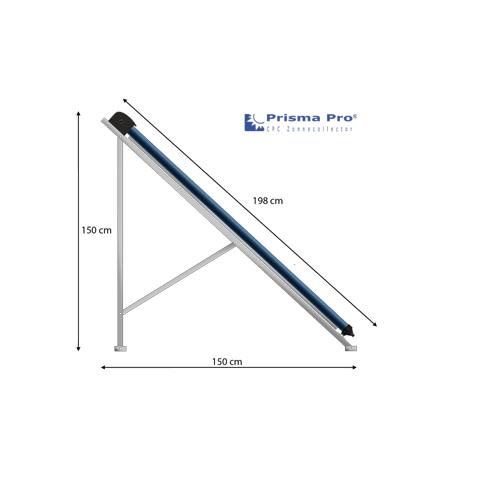 tekening maten zijaanzicht prisma pro
